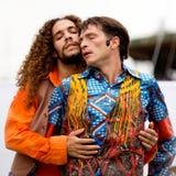Zmysłowa para dwa męskiego tancerza. Zdjęcia Stock