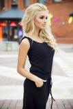 Zmysłowy blondynki kobiety pozować Obraz Stock