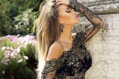 Zmysłowy portret brunetki piękno. Zdjęcia Royalty Free