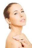 Zmysłowy portret naga kobieta Obraz Stock