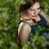 Zmysłowy portret piękne kobiety Fotografia Royalty Free