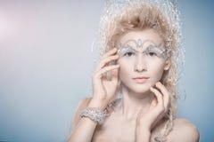 Zmysłowa kobieta z zimy makeup Obraz Royalty Free