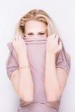 Zmysłowi blondyny Zdjęcia Royalty Free