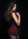 Zmys?owy brunetki kobiety pozowa? zdjęcia royalty free