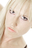 zmysłowa kąt blondynka Zdjęcia Royalty Free