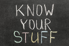 Zna twój materiał Zdjęcia Stock