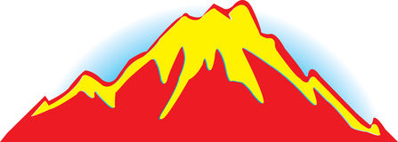 Znachek  mountains.Vector illustration Stock Image