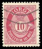 Znaczek drukujący Norwegia Standardowym wydaniem obraz stock