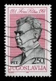 Znaczek drukujący w Jugosławia pokazuje Ivan Ribar Zdjęcie Royalty Free