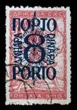Znaczek drukujący w Jugosławia pokazuje mężczyzna przerwy obwód, symbol wolność zdjęcia stock