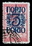 Znaczek drukujący w Jugosławia pokazuje mężczyzna przerwy obwód, symbol wolność zdjęcie royalty free