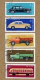 Znaczek drukujący USSR. Przedstawienie Rosyjscy samochody, ilustracji