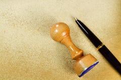 Znaczek i pisze A Zdjęcie Stock