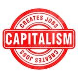 Znaczek kapitalizm ilustracja wektor