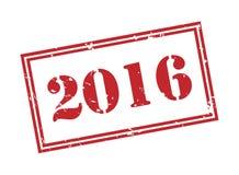 2016 znaczek na białym tle Zdjęcie Royalty Free