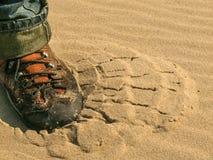 Znaczek na piasku Zdjęcie Stock