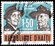 Znaczek pocztowy drukujący Haiti zdjęcia stock