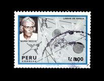 Znaczek pocztowy drukujący Peru obrazy stock
