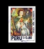Znaczek pocztowy drukujący Peru fotografia stock
