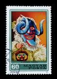 Znaczek pocztowy drukujący Węgry obrazy royalty free