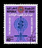Znaczek pocztowy drukuj?cy Irak zdjęcie royalty free