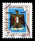 Znaczek pocztowy drukuj?cy Irak obrazy stock