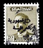 Znaczek pocztowy drukuj?cy Irak obraz stock