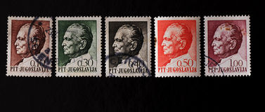 Znaczek pocztowy Josip Broz Tito Obraz Stock