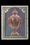Znaczek pocztowy Porcelana, Sevres - obrazy royalty free