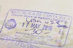Znaczek przyjazd w Costa Rica obrazy stock