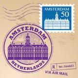 Znaczek ustalony Amsterdam Obrazy Royalty Free