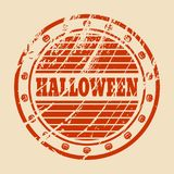 Znaczek z Halloweenowym tekstem Zdjęcia Royalty Free