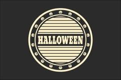 Znaczek z Halloweenowym tekstem Zdjęcie Royalty Free