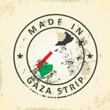 Znaczek z mapy flagą strefa gazy ilustracji