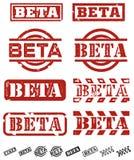znaczka beta wektor Zdjęcie Royalty Free