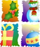 znaczki świąteczne ilustracja wektor