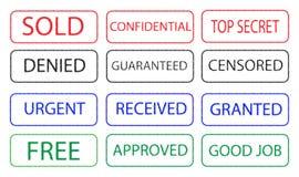 znaczki Zdjęcie Royalty Free
