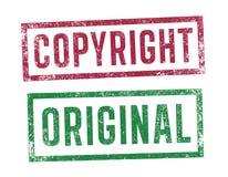 Znaczki Copyright i oryginał Obraz Stock