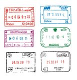 znaczki paszport Fotografia Royalty Free