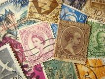 znaczki pocztowe światu. Obraz Royalty Free