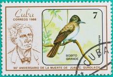 Znaczki pocztowi drukowali w Kuba Fotografia Stock