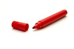 znacznik odizolowana czerwone. Zdjęcia Stock