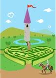 Znajdować miłości w królestwie serca pojęcie (Kerrii Hoya) Walentynka dnia temat Editable klamerki sztuka ilustracji
