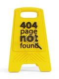 404 znajdująca nie strona Zdjęcie Stock