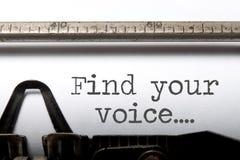 Znajduje twój głos inspirację zdjęcia stock
