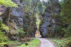 Znajoma część Gaderska dolina dzwonił Diabła ` s bramę Zdjęcie Royalty Free