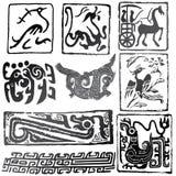znaków antyczni symbole Fotografia Royalty Free