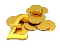Znaków funtowi sterlings Zdjęcie Royalty Free