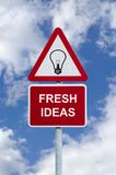 znak świeżych pomysłów do nieba Obraz Royalty Free