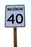 znak 40 maksymalna Zdjęcia Stock
